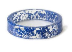 Blue Flower Resin Bracelet