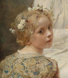 https://flic.kr/p/w9TBNc | Eduard Veith - Mother and child (detail) 1896 | Eduard Veith [Austrian painter 1856-1925]  Madonna with Jesus Surrounded by Children