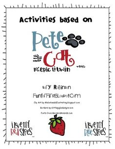 A fun activity packet to go with the book, Pete the Cat....