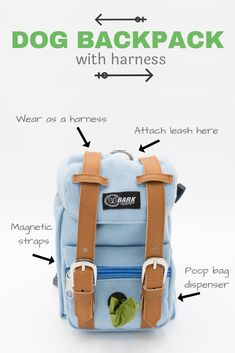 523119d4c06 Perfect accessory for your beloved fur baby! Cute and functional dog  backpack. Wear it