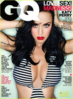 katy perry covers gq in super sexy revealing swimsuit 03 Katy Perry shows off some major cleavage in a revealing swimsuit on the cover of GQ's February 2014 issue, on newsstands January 28.    In the issue, the 29-year-old…