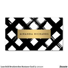 Luxe Bold Brushstrokes Business Card