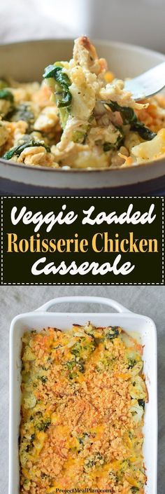Frugal Food Items - How To Prepare Dinner And Luxuriate In Delightful Meals Without Having Shelling Out A Fortune Veggie Loaded Rotisserie Chicken Casserole - Broccoli, Cauliflower, Spinach, Onion, Greek Yogurt For Healthy Deliciousness Low Carb Recipes, Yummy Recipes, Cooking Recipes, Recipies, Recipes Dinner, Veggie Heavy Recipes, Healthy Tasty Recipes, Cooking Corn, Diner Recipes