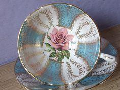 Antique Paragon robin's egg blue tea cup set blue by ShoponSherman