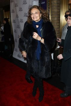"""Diane von Furstenberg Photo - Broadway Opening Of """"A Little Night Music"""" - Arrivals And Curtain Call"""