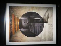 """""""Anamorphose"""", Exposition Georges Rousse, Base sous-marine, Bassins à Flots, Bordeaux, Gironde, Aquitaine, France."""