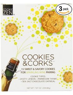 Heres' a cool new idea I just ran across: Cookies & Corks Sparkling Wine Pairing.  A definite must-try for you next wine-tasting soiree or a little nibbly to go with your next bottle!