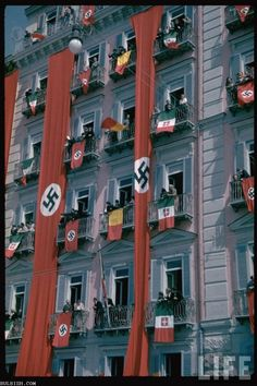 This is either a color version of an old photograph or just a remake of a scene of Nazi Germany