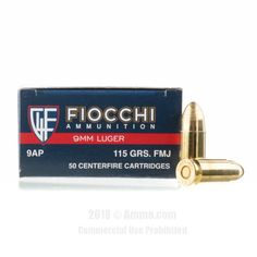 Fiocchi 9mm Ammo - 1000 Rounds of 115 Grain FMJ Ammunition #9mm #9mmAmmo #Fiocchi #FiocchiAmmo #Fiocchi9mm #FMJ