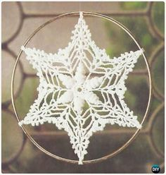 Crochet Shell Suncatcher Free Patterns - Crochet Dream Catcher Free Patterns