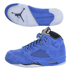 Jordan Men Air Jordan 5 Retro blue game royal black Size US 61adb3794