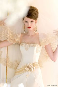 atelier aimee bridal 2014 silvy wedding dress gold lace