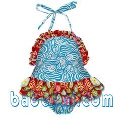 Hot swimming wear for cute baby .  Lovely design with the combination of blue zebra and flower colors. It will be a best choice for baby from 3 months to 10 years in this summer.  Big promotion this month , please visit our wedsite for more information : www.babeeni.com