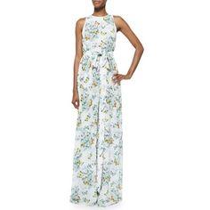 ERIN erin fetherston Ava Sleeveless Butterfly-Print Maxi Dress