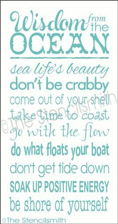 Wisdom from the OCEAN.