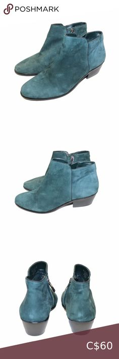 Sam Edelman Green Suede Petty Ankle Boots Sam Edelman, Forest Green, Suede, Inside Zipper, Ankle Height, Short Boots, Perfect for the fall Leather Upper Excellent pre-owned condition, no flaws Women's size 6.5 Ships Same/Next Day, Offers welcome, Bundle and save! 💙 for price drops Sam Edelman Shoes Ankle Boots & Booties Bootie Boots, Ankle Boots, Green Suede, Short Boots, Leather, Ankle Booties, Low Boots, Ankle Heel Boots