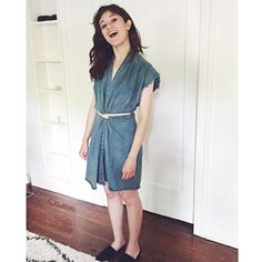 Love Actress @noelwells & tickled to see her in in our Edition IV Tribute Dress  frayed denim plant dyed in-studio with our limited edition Overdye colorway  big special thanks to @olive_austin   ___________________________________________ #noelwells #oliveaustin #mirandabennett #naturaldye #plantdye #plantpower #ethicalfashion #madeinusa #denim #overdye #frayed by mirandabennettstudio