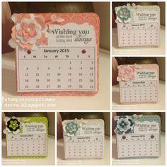 New blog post.  Coaster Calendars. Stampin on Sunflower Drive