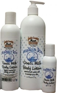 ITALIAN ICE GOATS MILK BODY LOTION - All Natural and Handmade in the USA #HAndmade #USA