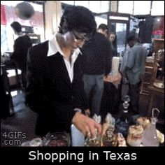 Shopping in Texas gif