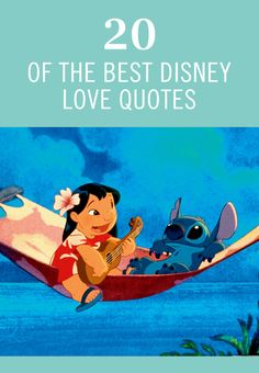 If you're a Disney fan, chances are you know a thing or two about love stories. From the Princesses to Mickey and Minnie, we can replay so many cute moments between our favorite couples. Check out 20 of the best Disney love quotes.