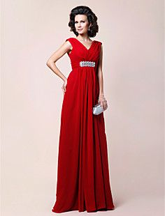 Sheath/Column V-neck Floor-length Draped Chiffon Mother of t... – USD $ 117.99 another mother of the brides dress