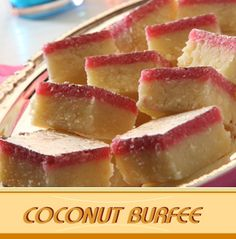Coconut burfee - indian sweet made with coconut