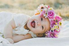 Babies and flower crowns.
