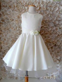 vestido comunion argentina - Buscar con Google Baptism Dress, Communion Dresses, Flower Girl Dresses, Romantic, Wedding Dresses, How To Wear, Google, Image, Fashion