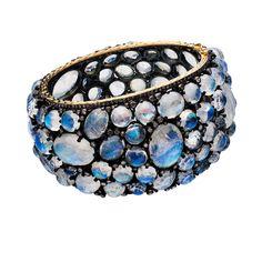 Yanina & Co. Moonstone and diamond cuff bracelet