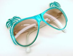 Rare Vintage 70s 80s Unique Palm Tree by Vintage50sEyewear on Etsy, $84.00