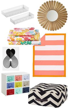 College-bound this Fall? Try these pieces that will work well in any small-spaced dorm room.