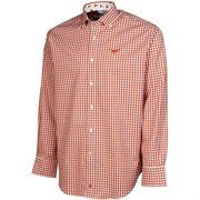 Texas Longhorns Spread Collar Gingham Button-Down Shirt - Burnt Orange #Fanatics