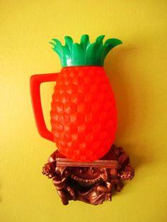 Vintage 1970s Orange Pineapple Drink Pitcher