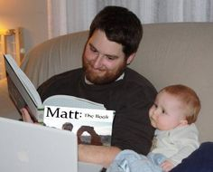 Me reading to baby Murray