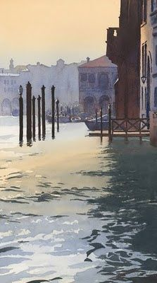 M i c h a e l R e a r d o n's  painting  Venice  Italy