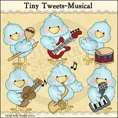 Tiny Tweets Musical 1 - Clip Art by Cheryl Seslar