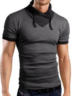 Grin&Bear Men's chawl collar Shirt T-Shirt shortsleeve, charocoal, S, BH111 Grin&Bear,http://www.amazon.com/dp/B00JIR1O3I/ref=cm_sw_r_pi_dp_BA5ytb09DZ8J6DER
