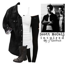 """""""fem! Scott McCall """"Teen Wolf"""" Inspired outfit"""" by j-j-fandoms ❤ liked on Polyvore featuring Forever 21, James Perse, Old Navy and Steve Madden"""