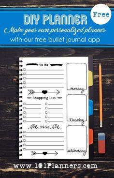 Free planner customizable printables