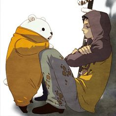 Trafalgar Law and Bepo #one piece #heart pirates