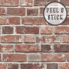 Transform Transform Red Brick Peel And Stick Wallpaper 108309