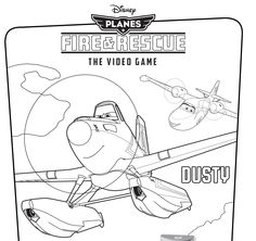 Propel your kids' everyday adventures with these new Planes: Fire & Rescue coloring pages inspired by Dusty's new heroic voyages.