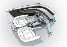 Mercedes interior doodles on Behance