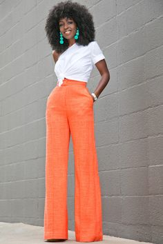 One Shoulder Cotton Top + High Waist Trousers Outfit Details: Top (Here or here): Similar styles here or there | Pants (Roksanda): Similar here (25% off),here or here | Shoes: Wearing these Fashion Look by Style Pantry