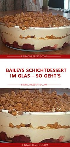 The Baileys layered dessert in a glass is just right for those with a sweet tooth: biscuits . - The Baileys layered dessert in a glass is just right for those with a sweet tooth: biscuits and coc - Layered Desserts, Fall Desserts, No Bake Desserts, Desserts In A Glass, Lemon Desserts, Chocolate Shavings, Cinnamon Cream Cheeses, Ice Cream Recipes, Food Cakes