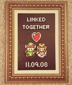 Zelda Anniversary Piece – presents for boyfriend Geek Wedding, Wedding Ideas, Gamer Gifts, Fuse Beads, Perler Beads, Perler Patterns, Bead Art, Pixel Art, Beading Patterns
