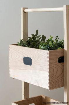 DIY-rangement-legumes-3 Interior Design Ikea, Diy Rangement, Diy Home Accessories, Diy Home Repair, Diy Bench, Diy Table, Porch Decorating, Floating Nightstand, Diy Home Decor