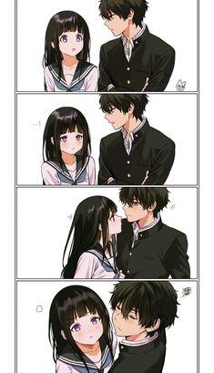 Anime Cupples, Manga Anime Girl, Kawaii Anime, Anime Couples Drawings, Anime Couples Manga, Romantic Anime Couples, Hyouka Chitanda, Wallpaper Animé, Tamako Love Story
