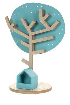 Porte-bijoux arbre, Hauteur 30 cm En bois et métal